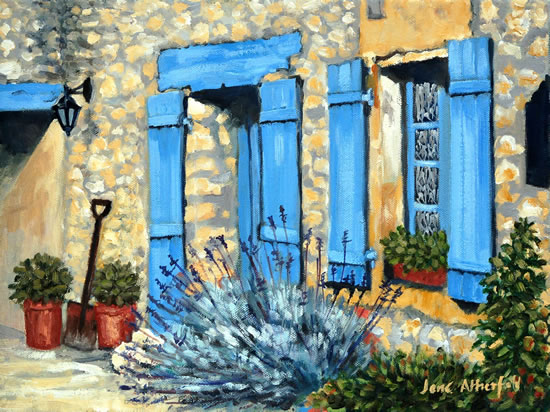 Dordogne, Le Chambellan - Le Coux et Bigaroque - Surrey Art Gallery - Jane Atherfold - Guildford Art Society