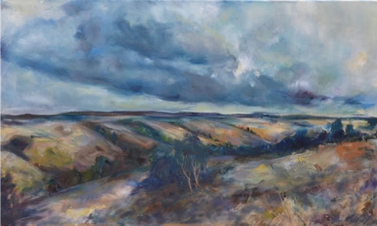 Dorset Valley - Stephen Kinder - Godalming Artist - Farnham Arts Society - Surrey Art Gallery