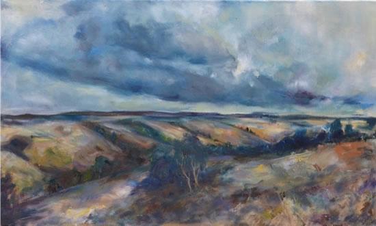 Dorset Valley - Stephen Kinder - Godalming Artist - Farnham Arts Society - Surrey Art Gallery