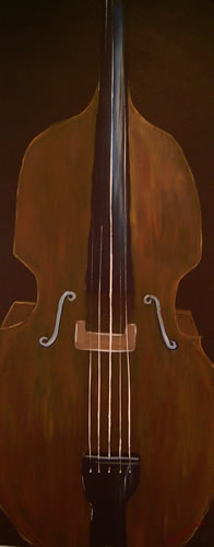 Double Bass - Surrey Artist - Michael Palmer + Paintings in Acrylics & Mixed Media - Surrey Art Gallery