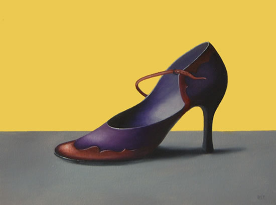 Dreamscape Art - Ladies Shoe - Left Foot Forward - Romy Rey - Artist Painting Landscapes, Dreamscapes, Geometrics, Ancient and Tribal - Surrey Art Gallery