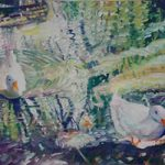 Ducks at Hartley Wintney – Hampshire Artist Nicholas Walsh – Fine Artist and Art Tutor