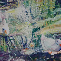 Ducks at Hartley Wintney – Hampshire Artist Nicholas Walsh – Fine Artist and Art Tutor
