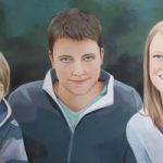 Family Portrait – Davisons- Kerry Regan – Artist Painting in Acrylic and Other Media – Surrey Art Gallery