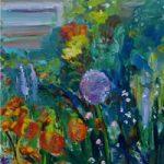Flower Garden – Stephen Kinder – Godalming Artist – Farnham Arts Society – Surrey Art Gallery