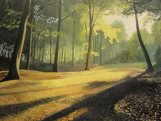 Forest - Shaded Splendour - Daniele Mandelli - Painter of Oils - Woking Society of Art - Surrey Art Gallery