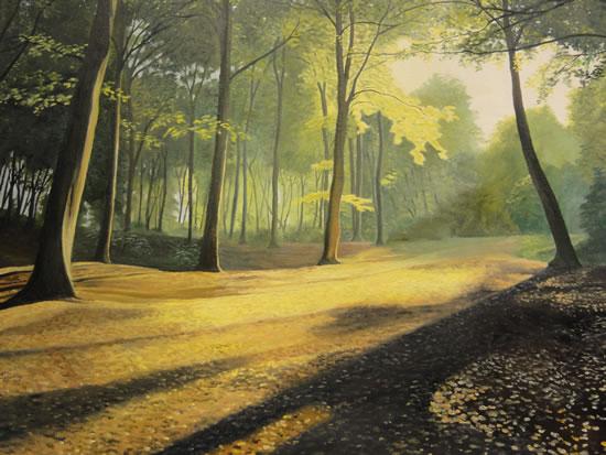 Forest - Shaded Splendour - Daniele Mandelli - Painter of Oils - Woking Society of Art - Surrey Art Gallery