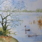 Frensham Little Pond Surrey Scene – Art