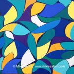 Geometric Art – Pattern – African Days – Contemporary Art Gallery – Surrey Artist Miki Sexton