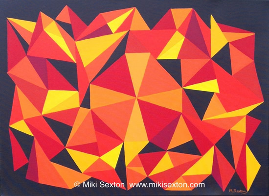 Geometric Art - Pattern - Kaleidoscope - Contemporary Art Gallery - Surrey Artist Miki Sexton