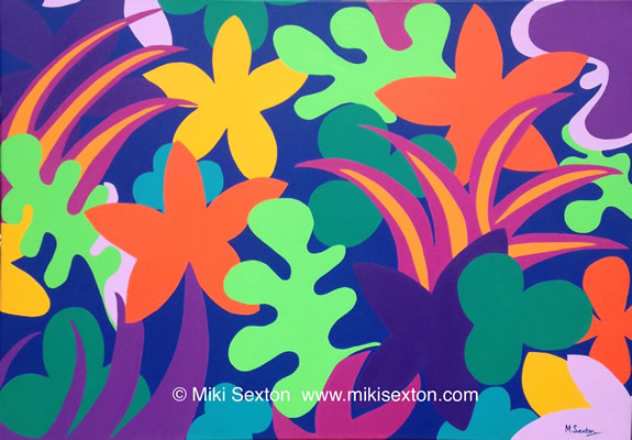 Geometric Art - Pattern - Tropical Garden III - Contemporary Art Gallery - Surrey Artist Miki Sexton