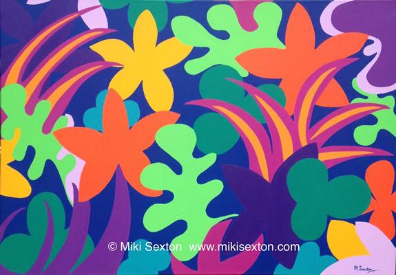 Geometric Art - Pattern - Tropical Garden III - Contemporary Art Gallery - Surrey Artist Miki Sexton