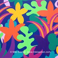 Geometric Art – Pattern – Tropical Garden III – Contemporary Art Gallery – Surrey Artist Miki Sexton