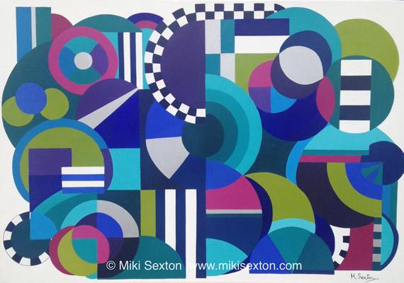 Geometric Art - The Mechanical Mind - Contemporary Art Gallery - Surrey Artist Miki Sexton