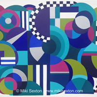 Geometric Art – The Mechanical Mind – Contemporary Art Gallery – Surrey Artist Miki Sexton