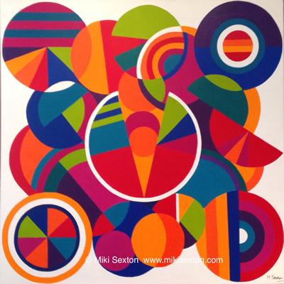 Geometric Art - The Open Mind - Contemporary Art Gallery - Surrey Artist Miki Sexton