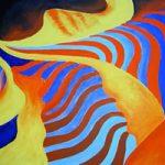 Glass Study 1 – Peter Camden-Woodley – Weybridge Artist in Acrylics and Metal Sculpture – Surrey Art Gallery
