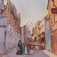 Guildford – Swan Lane – Surrey Scenes Art Gallery