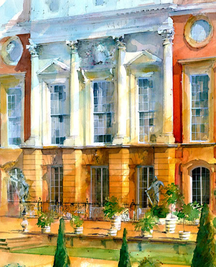 Hampton Court Palace - John Walsom - Contemporary and Architectural Artist - Buildings and Interiors in Oils, Acrylics and Watercolours - Surrey Art Gallery