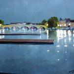 Henley Bridge Oxfordshire – Doug Myers – Fine Artist – Chertsey Artists – Surrey Art Gallery