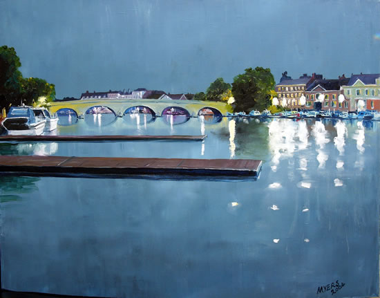 Henley Bridge Oxfordshire - Doug Myers - Fine Artist - Chertsey Artists - Surrey Art Gallery