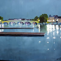 Henley Bridge Oxfordshire – Doug Myers – Fine Artist – Chertsey Artists – Surrey Art Gallery