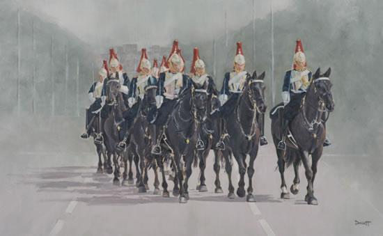 Horse Riding - Household Cavalry in the Mall, Buckingham Palace, London - Surrey Artist - Mark Dorsett - Gallery