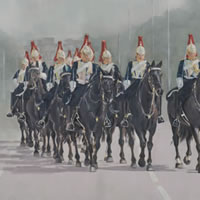 Horse Riding – Household Cavalry in the Mall, Buckingham Palace, London – Surrey Artist – Mark Dorsett – Gallery