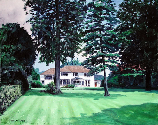 House Portrait - Inshala - Doug Myers - Portrait and Fine Artist - Chertsey Artists - Surrey Art Gallery