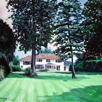 House Portrait – Inshala – Doug Myers – Portrait and Fine Artist – Chertsey Artists – Surrey Art Gallery