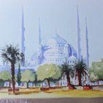 Istanbul Blue Mosque – Pirbright Art Club – Watercolour Gallery – Surrey Artist David Harmer