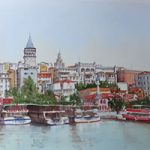 Istanbul, Bosphorus Waterfront – Woking Society of Arts – David Harmer – Surrey Artist