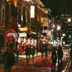 Jersey Boys at The Prince Edward Theatre – John Walsom – Contemporary and Architectural Artist – Buildings and Interiors in Oils and Watercolours – Surrey Art Gallery