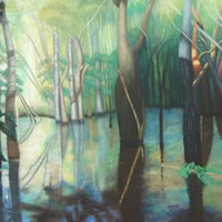 Jungle – In The Selva – Romy Rey – Artist Painting Landscapes, Dreamscapes, Geometrics, Ancient and Tribal – Surrey Art Gallery