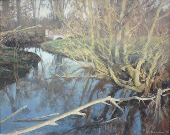 Kemishford, Worplesdon - David Deamer - Artist in Oils and Pencil Portraits - Surrey Art Gallery - Pirbright Art Club - Woking Society of Arts