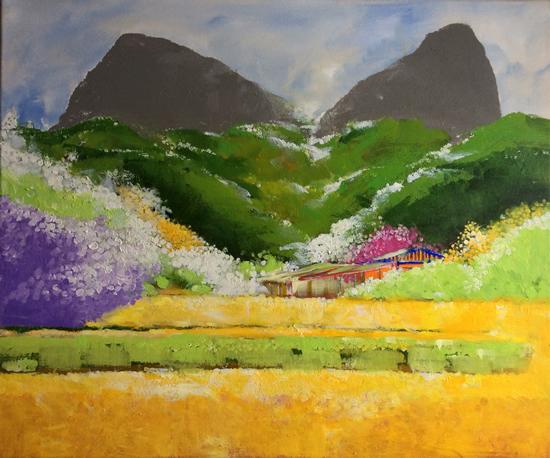 Landscape Painting - Memory - Surrey Artist - Rajin Park - New Malden