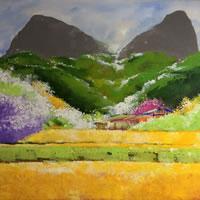 Landscape Painting – Memory – Surrey Artist – Rajin Park – New Malden