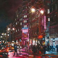 Legally Blonde at The Savoy Theatre – John Walsom – Contemporary and Architectural Artist – Buildings and Interiors in Oils and Watercolours – Surrey Art Gallery