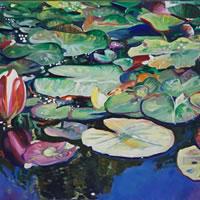 Lily Pond at Brockley End – Hampshire Artist Nicholas Walsh – Farnham Art Society