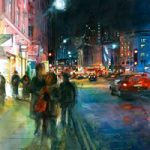 London – Charing Cross Road – John Walsom – Contemporary and Architectural Artist – Buildings and Interiors in Oils, Acrylics and Watercolours – Surrey Art Gallery