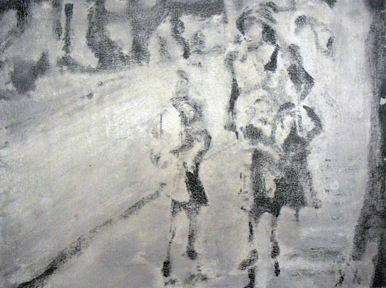 Lost Child Found By Mother - Abstract Art Gallery - Artist Tony Scrivener - Surrey Institute of Art & Design