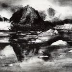 Magdelena Fiord – Rose Seber – Rock Climbing and Mountain Art and Stone Lithography – Surrey Art Gallery