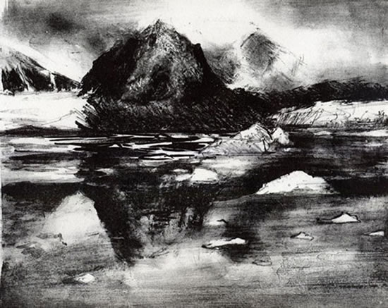 Magdelena Fiord - Rose Seber - Rock Climbing and Mountain Art and Stone Lithography - Surrey Art Gallery