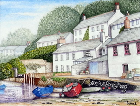 Noss Mayo Devon Art Gallery - Surrey Artist John Bunce - Guildford Art Society