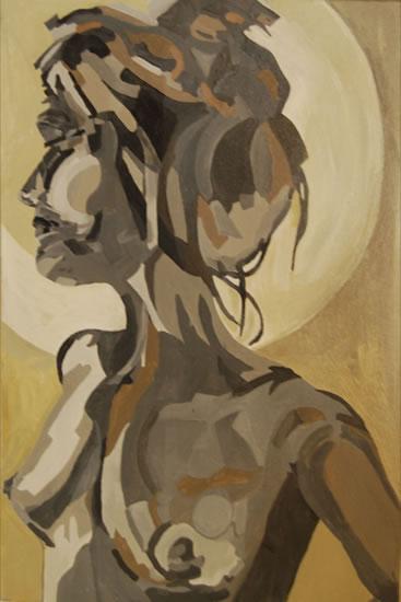 Nude Painting - Dee - Contemporary Art Gallery - London Artist Elaine Pigeon