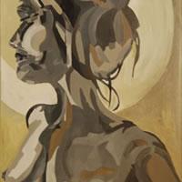 Nude Painting – Dee – Contemporary Art Gallery – London Artist Elaine Pigeon