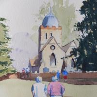 Old Albury Church near Shere – Surrey Art Gallery