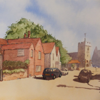 Old Woking and St Peters Church – Surrey Scenes Art Gallery