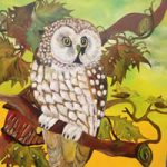 Owl Painting – Wisdom – I See You – South African Artist – Richard Dunn – Gallery – Artist In Oils