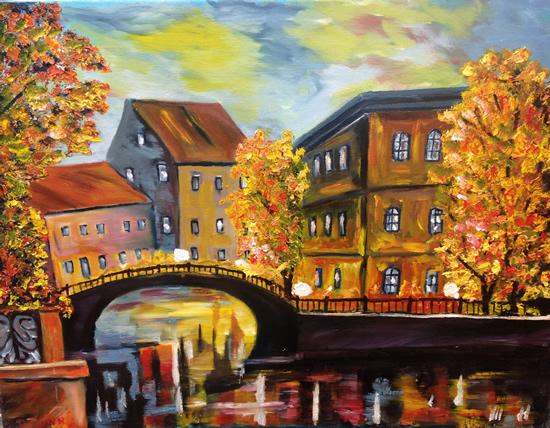 Paris at Sunset - South African Artist - Richard Dunn - Gallery - Artist In Oils